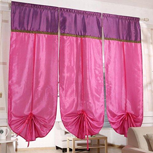 Fulltime® 1PC Fenêtre Rideau Drapé Panel Écharpe Valences 180cm x 70cm (Rose)
