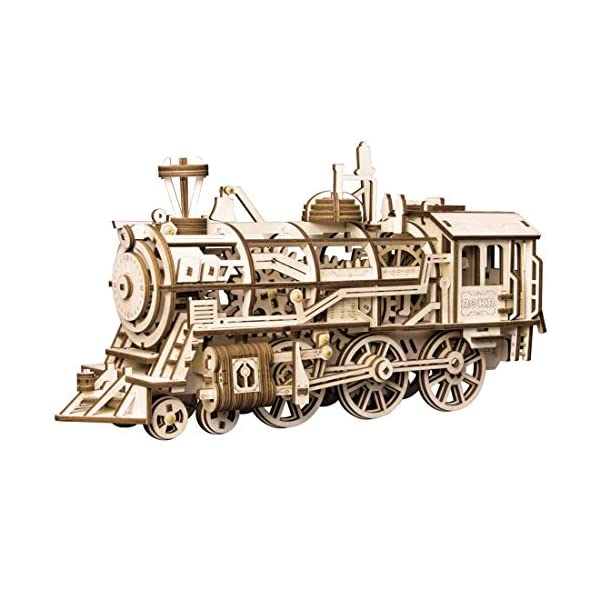 ROKR 3D Wooden Puzzle-Self Propelled Mechanical Model-DIY Building Kits-Brain Teaser...