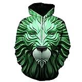zysymx Wolf 3D Persönlichkeit Hoodie für Männer Harajuku Marke Hoodie Designer Kleidung Herbst...