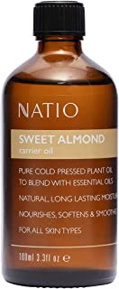 Natio Sweet Almond Carrier Oil, 100 ml
