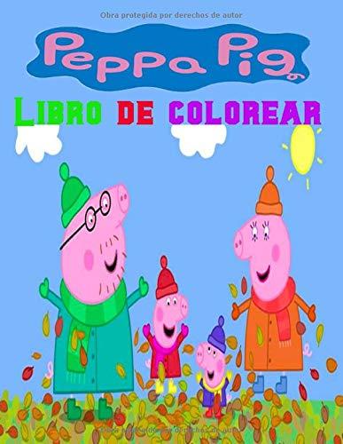 Peppa pig Libro de colorear: Pinta y pega con Peppa (Peppa P