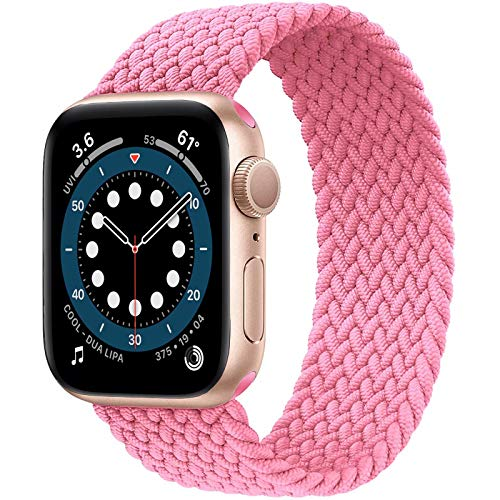 JONWIN Solo Loop compatible con Apple Watch Correa 38 mm 40 mm, correa deportiva para correa de nailon para iWatch Series 6/5/4/3/2/1, SE, rosa, número 3