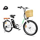 BRIGHT GG NAKTO 22' City Electric Bike for Adults Women Ebike with 36V10A Lithium Battery