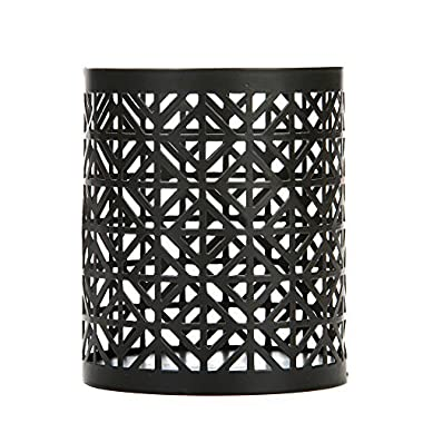 Hosley 4.5  High Oil Rubbed Bronze LED Candle Jar Sleeve, Tea light Lantern. Ideal Gift For Wedding, Spa, Aromatherapy, Party. Bulk Buy O9