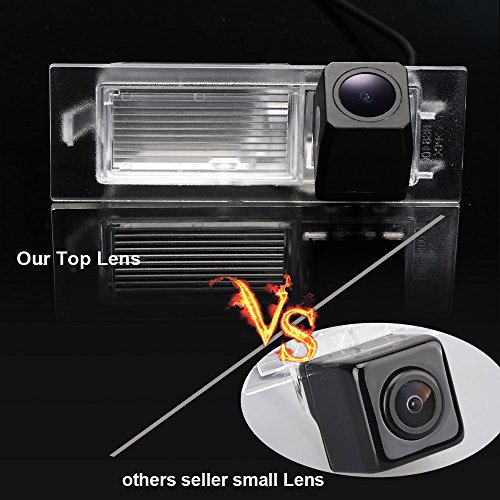 Navinio Caméra de Recul Voiture en Couleur Kit Caméra vue arrière de voiture Imperméable IP67 avec large Vision Nocturne pour 2015-2016 Renegade