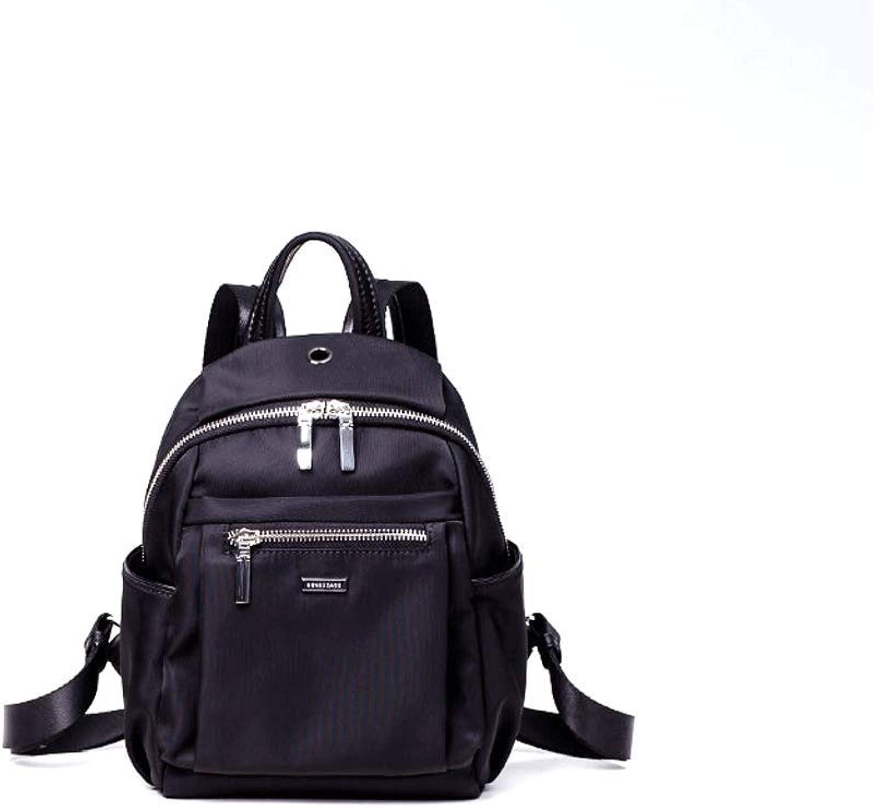 SLH Female Wild Female Nylon Bag Small Travel Travel Backpack Black Charm Backpack