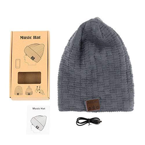 Preisvergleich Produktbild Peanutaod Drahtlose 4, 2 Smart Cap warme Winter Beanie Hut Multifunktions-Kopfhörer Headset Lautsprecher Mic verdickt Velvet Hat