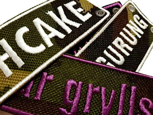 Emporium Embroidery Parches Rectangular Personalizados Customizados Plancha Bordado Chaquetas Uniforme Vaqueros Etiquetas Camuflaje Mediano