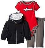 YOGA-SPROUT 90237 Bekleidungsset mit Kapuzenjacke, Body und Hose, 100% Baumwolle (9-12 Monate)