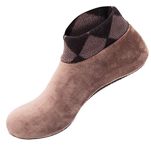Yebutt Bodensocken Mit Leopardenmuster,Frauen-Warme-Socke Rutschfester Elastischer FußBoden-Socken-Pantoffel FußBodensocken FüR Erwachsene