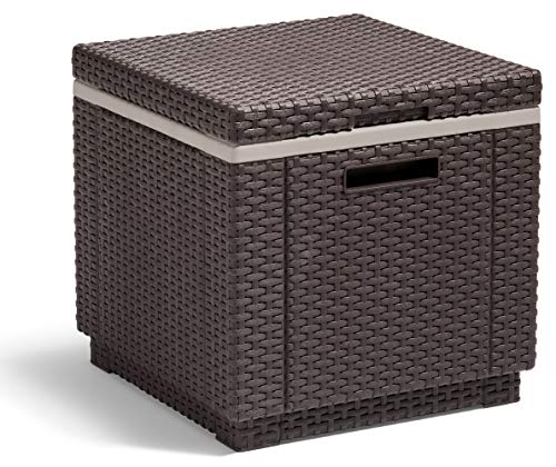 Allibert by Keter California Ice Cube Outdoor Cooler, Brown, 42 x 42 x 41 cm