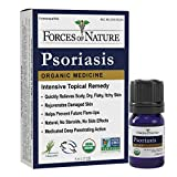 Forces of Nature -Natural, Organic Psoriasis Treatment (5ml) Non GMO, No Chemicals –Fast Acting Relief for Itchy, Scaly, Red, Flaking, Inflamed Skin Associated with Psoriasis, Dandruff, Dermatitis