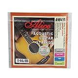 Alice tamaño mediano cadena hexagonal Core 6th cuerdas para guitarra Folk/guitarra acústica w/Dorado con extremo de bola para concierto