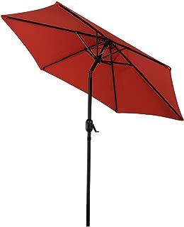 Sunnydaze 7.5 Foot Outdoor Patio Umbrella with Tilt & Crank, Aluminum, Burnt Orange