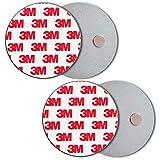 ECENCE Soporte magnético para detector de humo - 2 unidades soporte magnético adhesivo para detectores de humo Ø 70mm - Base sin taladros para detector humo y alarmas para casa contra incen