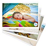M.MEMO 10 Pack 4'x6' Premium Super Slim Magnetic Picture Pockets Frames Holds 4 x 6 inches Photo for Refrigerator