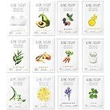 Ballon Blanc Therapy Face Facial Masks Sheet | 12 Varieties | Nutritional Sheet Masks Korean Skin Care | 12 Sheets