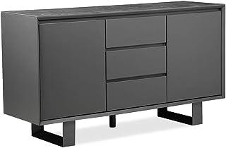meubletmoi aparador gris antracita (madera cerámica patas metal–diseño contemporáneo–Nouvelle Collection inédite–Ce...