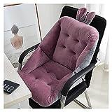 Cojín de asiento Sofá de peluche suave Cojín de soporte de espalda baja Sillón de asiento Cojines para el asiento de la oficina de comedor de la oficina Almohada del respaldo del asiento del asiento C