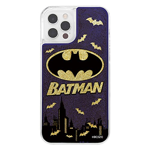 iPhone 12 / 12 Pro / 『バットマン』/ラメ グリッターケース/バットマンロゴ