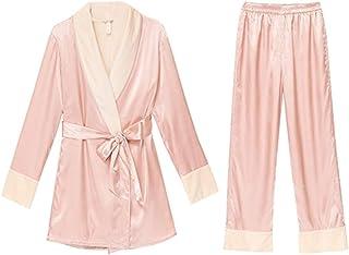 Yamyannie-Clothing Warm Pajamas Set Classic Raso Pajama Set Manica Lunga Pigiami dell'Abito del Vestito for Le Vacanze in ...