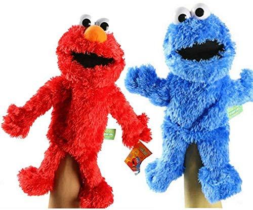 Plaza Sésamo El Show de los Muppets, monstruo de juguete de felpa de sésamo marioneta de peluche de juguete Calle Sésamo felpa Cookies marioneta de mano Juego de juguetes educativos Juegos muñeca de j