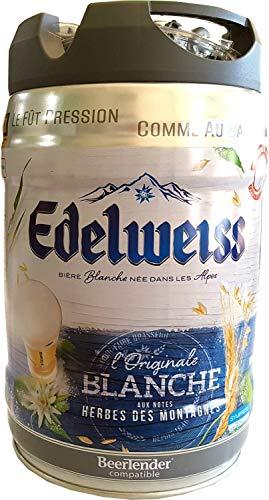 Edelweiss, blanche 5 Liter Partyfass 5% vol Weissier aus den französichen Alpen