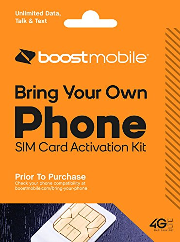 Boost Mobile Bring Your Own Device (BYOD) Sim Card Kit – Prepaid