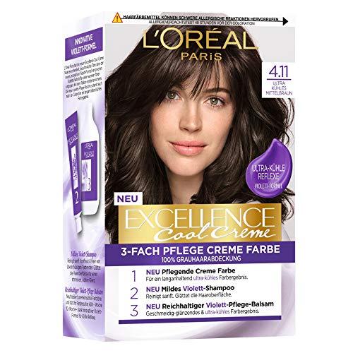 L'Oréal Paris Excellence Cool Creme 4.11 Ultra kühles Mittelbraun, 258 g