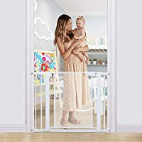 Heele Pet Metal Mesh 29.5-40.5inch Auto Close Safety Baby Gate