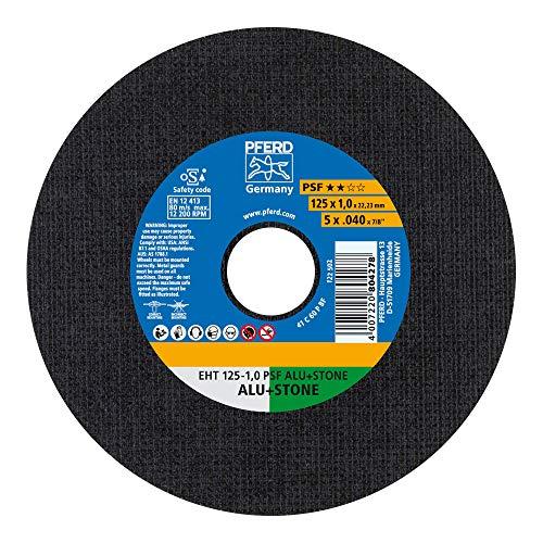 PFERD 61819015 Trennscheibe PSF ALU+STONE 10 Stück | 125 x 1,0 x 22,23 mm, gerade | für NE-Metalle und mineralische Werkstoffe