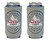 Coors Light Rockies 16oz Beer Can Cooler Holder Kaddy Coolie Huggie Set of 2
