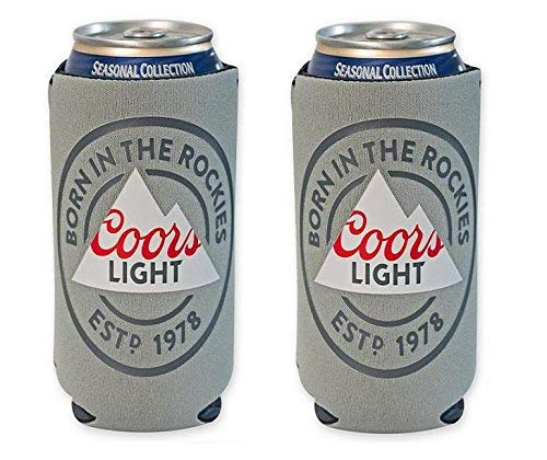 Coors Light Rockies 16oz Beer Can Cooler Holder Kaddy Coolie Huggie Set of 2