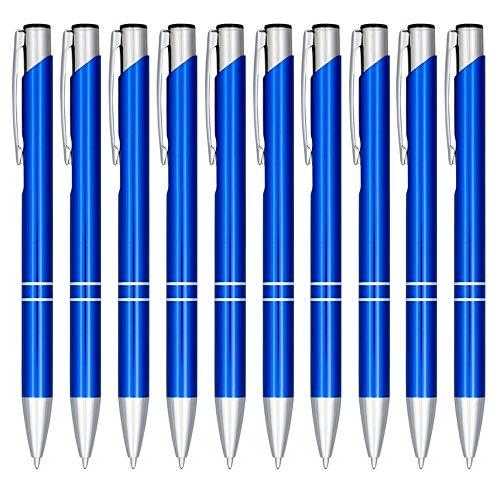 Notrash2003 - Set di 10 penne a sfera in alluminio anodizzato in diversi colori con meccanismo a scatto
