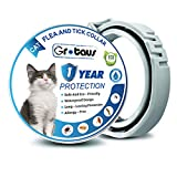 GROTAUS Flea and Tick Collar for Cats, 13 Inches Cat Collar Anti Flea, One Year Protection, One Size Fits All Cats