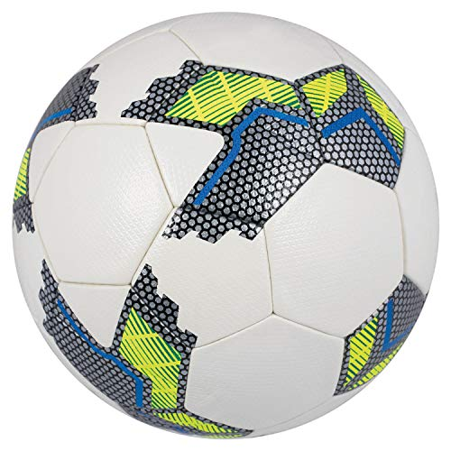 John 52038 - Fußball Hybrid, Größe 5, Durchmesser ca. 22 cm, 410 - 450 g, zum Trainieren taktischer Spielzüge oder zum Kicken mit Freunde, farbig sortiert, Auswahl nicht möglich