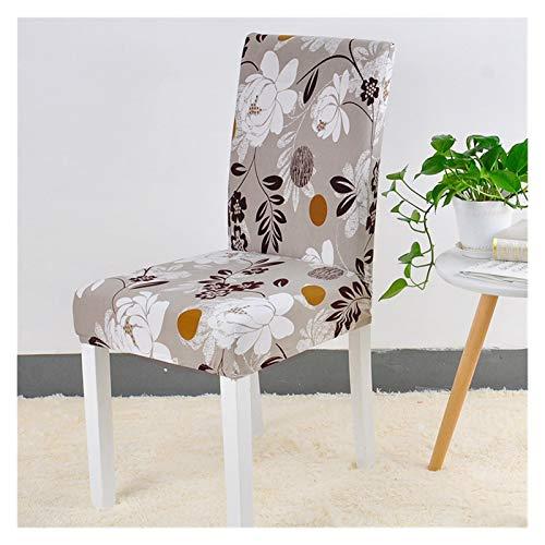 WQAZ Stuhlbezug Blumendruckstuhlabdeckung Home Esszimmer Elastische Stuhlabdeckungen Multifunktionale Spandex Elastische Tuch Universal Stretch 1 Stück Polyestermaterial