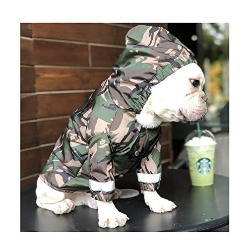 HUILI Waterdichte Huisdier Regenjas Poncho Winddichte Regenjas Outdoor Huisdier Hond Regenjassen Lichtgewicht Regenkleding met Reflecterende Strip voor Puppies Teddy Bulldog