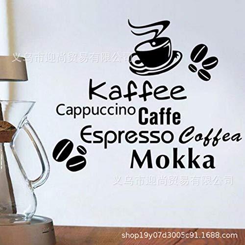 JXWR Kreative Caffe Kaffee Mokka kaffeebohne Muster wandtattoo Dekoration Cafe 57 * 70 cm