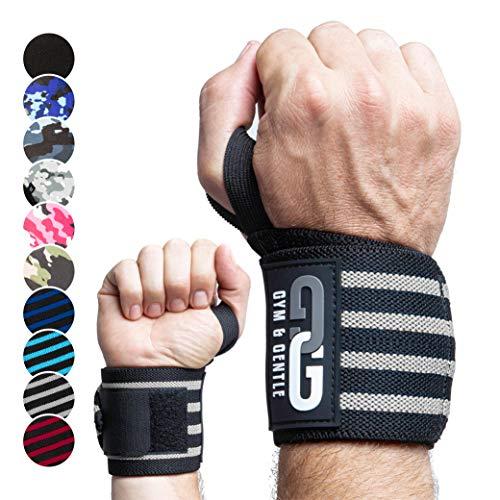 Gym & Gentle Guantes de fitness con reposamuñecas, para hombre y mujer, con bolsa de malla, guantes de entrenamiento, guantes deportivos
