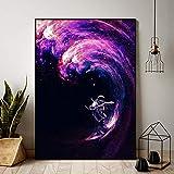 adgkitb canvas Lienzo Wall Art Piece Astronautas Starry Sky Decoración para el...