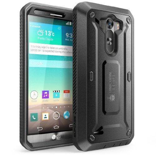 Smingda for LG G3 Case Full-body Rugged Hybrid Protective Case with Built-in Screen Protector  for LG G3 Case(Black)