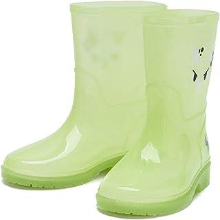 YQQMC Impermeable Antideslizantes Botas de Lluvia Transparentes niños Linda de Botas de Lluvia Botas de Agua del Tubo Medi...