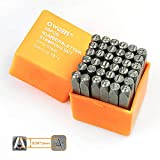 """OWDEN Professional 36Pcs. Steel Metal Stamping Tool Set,(3/16"""") 5mm,Steel Number and Letter Punch"""
