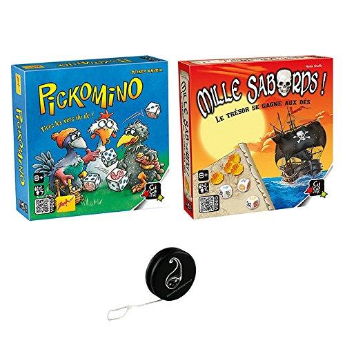 Juego de 2 juegos – Pickomino + Mille Sabords + 1 Yoyo Blumie