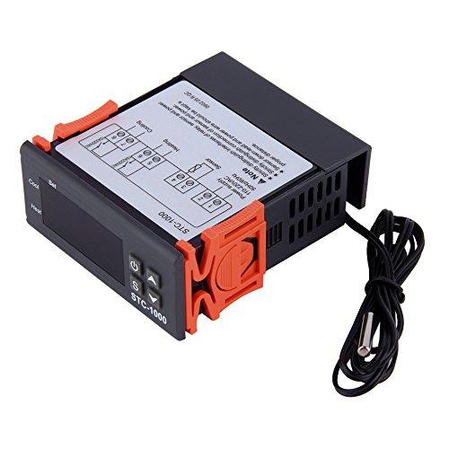 Huatuo STC-1000 220V regolatore di temperatura multifunzione per termostato Calibrazione Fahrenheit e display centigrado + sonda sensore