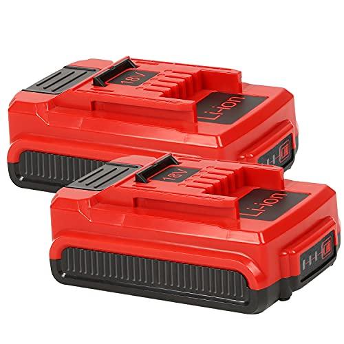 (Paquete de 2) Bsioff Batería Batería de Repuesto de 18V 3.0ah Compatible con Einhell Compatible con Todos los Dispositivos PXC (Li-Ion, 18 V, 2X 3.0 Ah)