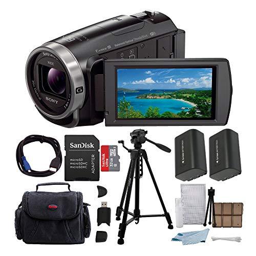 Sony HDR-CX675 Handycam Full HD 1080p Camcorder w/Lithium Ion Battery & 64 GB Micro SD Memory Card -  ASONHDRCX675BK2