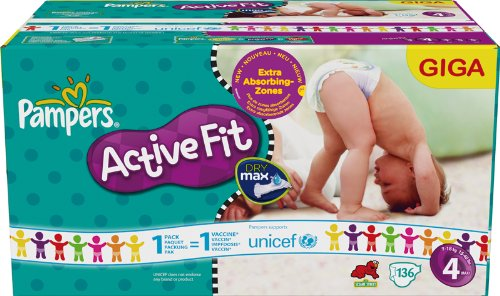 Pampers Active Fit, 4 4 136 Stück