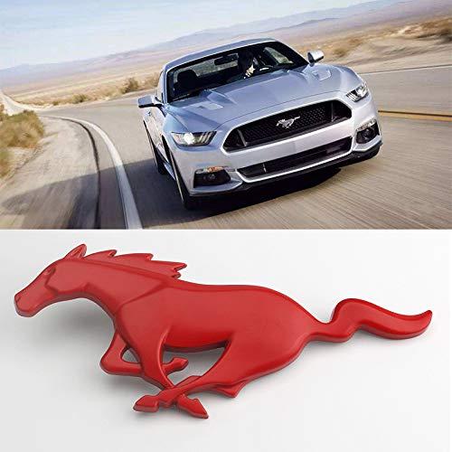 D28JD Logo-Emblem für Kühlergrill Metallbuchstaben Aufkleber für F-ord 2015-2017 2.3T Mustang,Rot